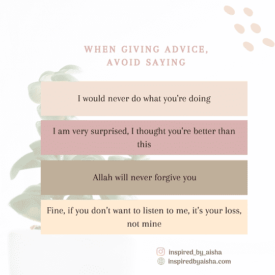 Sentences to avoid when you give advice without being hurtful